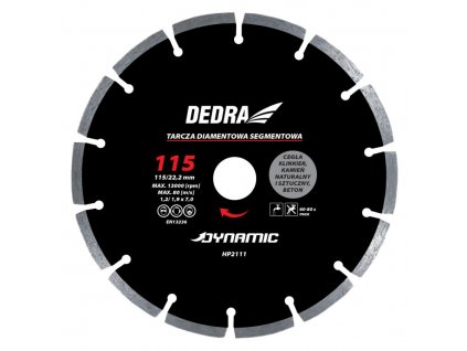 Kotúč diamantový seg. Dynamic 110x22,2mm DEDRA