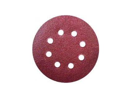 Brúsny papier kruhový 125mm,zrnitosť 80,5ks