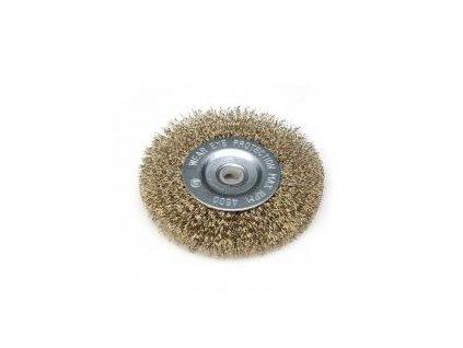 Brúsny kefový kotúč 150 mm, miskový, mosadzný