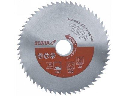 Oceľový kotúč pílový na drevo 200/60/30 DEDRA