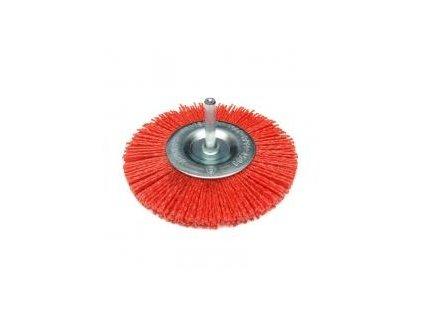Brúsny kefový kotúč 100 mm s násadou, miskový, nylonový