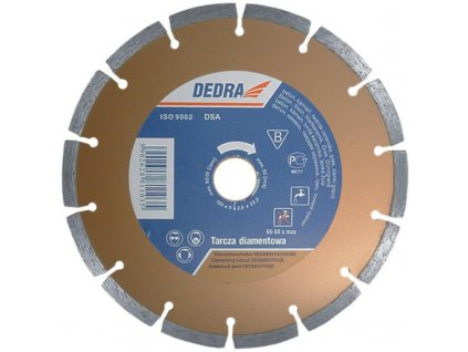 Kotúč diamantový segmentový 125x22,2mm DEDRA - H1107