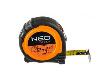 Zvinovací meter, ocel. 2 m x 16 mm s magnetom | NEO 67-112