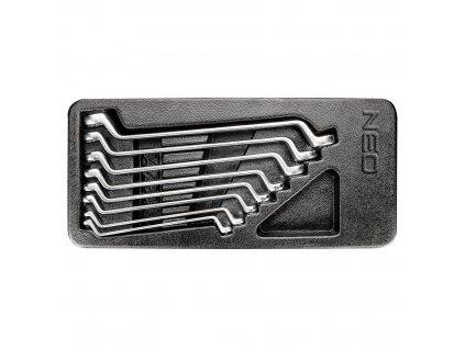 Očkové kľúče ohnuté 6-22 mm, súprava 8 ks
