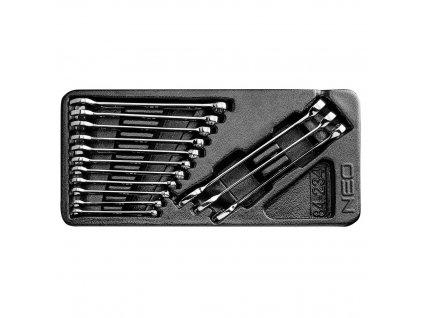 Ploché-očkové kľúče 6-19 mm, súprava 14 ks