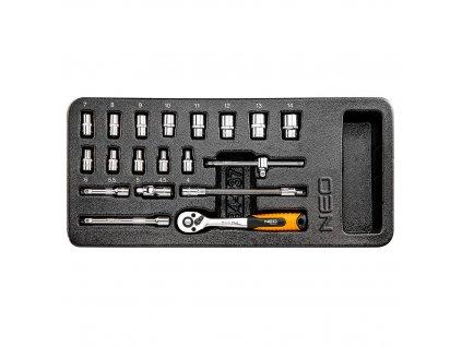 """Nástrčné kľúče 1/4"""", súprava 19 ks   NEO 84-237"""