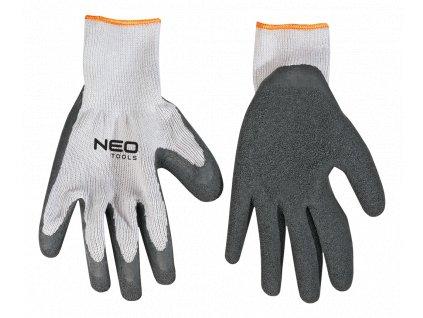 """Pracovné rukavice textil, guma 10"""""""