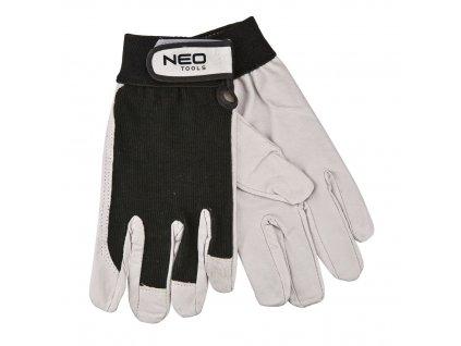 """Pracovné rukavice, bravčovina kože, so zapínaním na suchý zips, 8 """""""