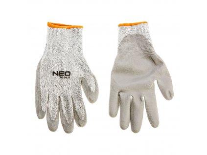"""Pracovné rukavice, znížiť odolné, PU záter, 10 """", odolnosť proti opotrebeniu 4, odolnosť proti prerazeniu s ostrým predmetom, 5 (najvyššia), odolnosť proti roztrhnutiu 4, odolnosť proti prepichnutiu 3, CE"""