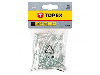 Nit hliníkový trhací 4,8 mm x 14,5 mm, 50ks | TOPEX 43E504