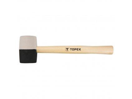 Kladivo gumovéO 58 mm, 450 g, čierna a biela guma   TOPEX 02A354