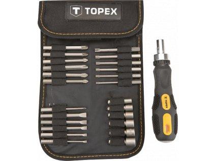 Koncovky skrutkovača a nástavce s držiakom sada, 26 ks | TOPEX 39D352