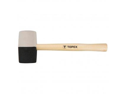 Kladivo gumovéO 63 mm, 680 g, čierna a biela guma | TOPEX 02A355