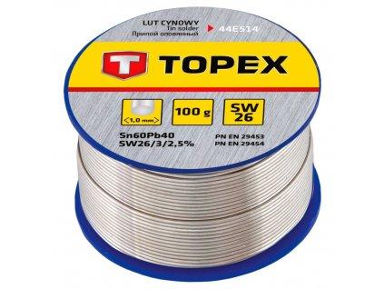 Cínová spájka, 60% Sn, 1,0 mm priem., 100 g   TOPEX 44E514