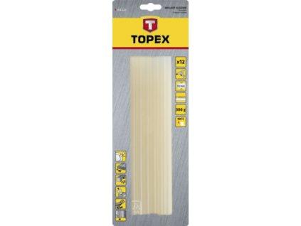 Tyčky lepiace 11 mm, 12 ks , transparentné | TOPEX 4.2E-114