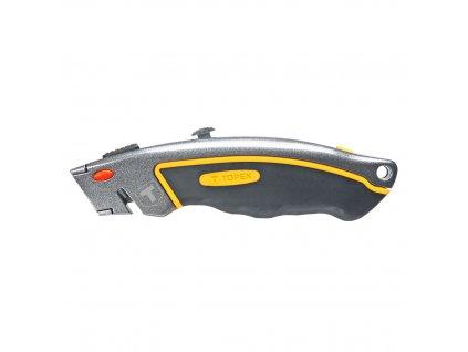 TOPEX  17B172  Nôž s trapézovou čepeľou, kovový, 6 nožov TOPEX  17B172  Nôž s trapézovou čepeľou, kovový, 6 nožov