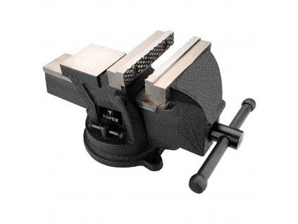 Zverák liatinový pevný s otočnou základňou, 100 mm | TOPEX 07A210