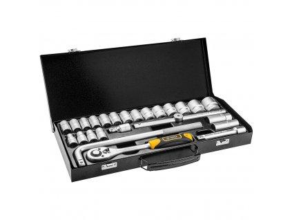 """Nástrčné kľúče 1/2"""", kovový kufrík, súprava 25 ks"""