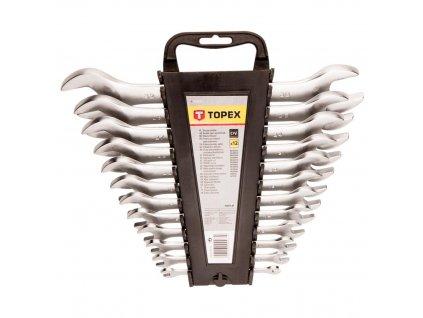 Ploché kľúče obojstranné 6-32 mm, súprava 12 ks | TOPEX 35D657