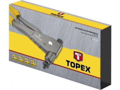 Kliešte nitovacie na matice pre M3, M4, M5, M6 | TOPEX 4.3E-111