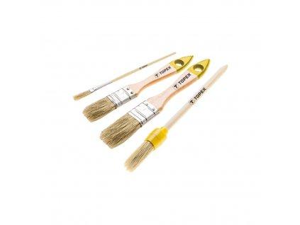 TOPEX  20B817  Súprava maliarských štetcov, 4 ks TOPEX  20B817  Súprava maliarských štetcov, 4 ks