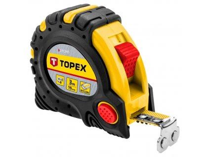 Zvinovací meter, ocel 3 m x 19 mm s magnetom | TOPEX 27C343