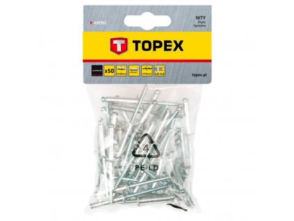 Nit hliníkový trhací 4,8 mm x 8 mm, 50ks | TOPEX 43E501