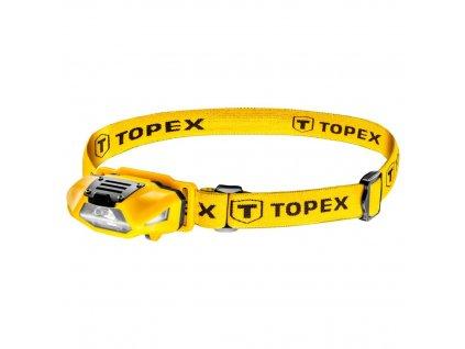 Čelová baterka 70 lum, biela + červená, 1xAA | TOPEX 94W390