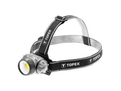 TOPEX  94W391  Lampa čelová, LED 3W, 3AAA TOPEX  94W391  Lampa čelová, LED 3W, 3AAA | TOPEX 94W391