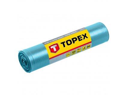 Ťažké vrecia na odpad 80 l, modré 5 ks., Super silné, 100 mic   TOPEX 23B257