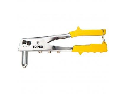 Nitovacie kliešte, 2,4 - 3,2 - 4,0 - 4,8 mm | TOPEX 43E707