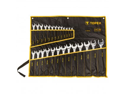TOPEX  35D763  Očkoploché kľúče 6-32 mm, sada 26 ks., CrV oceľ TOPEX  35D763  Očkoploché kľúče 6-32 mm, sada 26 ks., CrV oceľ