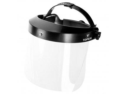 Ochranný štít, 1 mm. Vymeniteľné ochranné sklo.   TOPEX 82S221