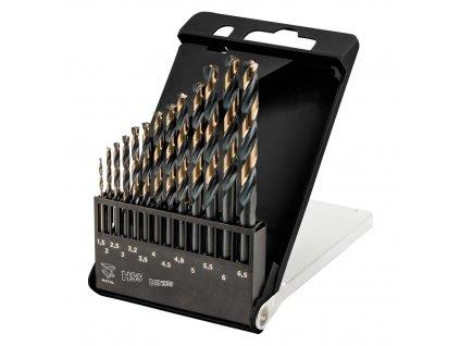 """Vrtáky do kovu HSS-CNC, 124°, """"Pro-Tec"""", 1.5 - 6.5 mm, súprava 13 ks"""