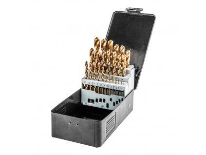 Vrták do kovu HSS-TiN sada 1,0 - 13,0 mm, 25 ks