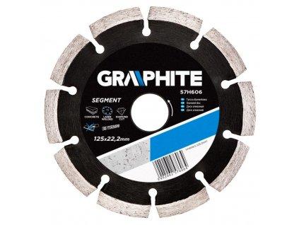 Diamantový kotúč, 125 22.2 mm, segmentový a laserom zváraný | GRAPHITE 57H606