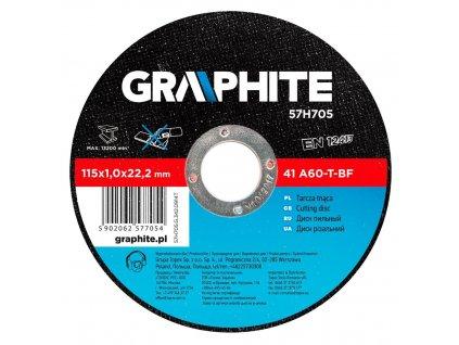 Rezací kotúč na kov, 115 x 1.0 22.2 mm, 41 A60-T-BF | GRAPHITE 57H705