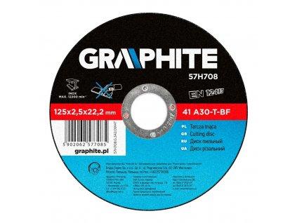 Rezací kotúč na kov, 125 x 2.5 22.2 mm, 41 A30-T-BF | GRAPHITE 57H708