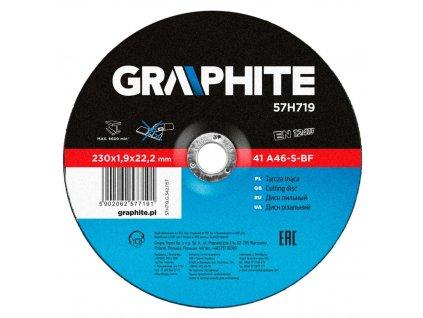 Rezací kotúč na kov, 230 x 1.9 22.2 mm, 41 A46-S-BF | GRAPHITE 57H719