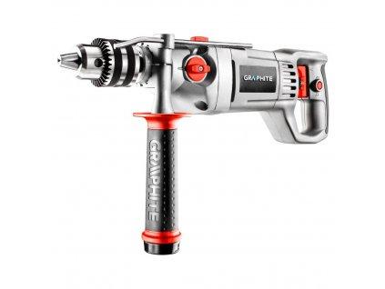 Príklepová vŕtačka 1050W rukoväť 16 mm , puzdro grafit | GRAPHITE 58G712