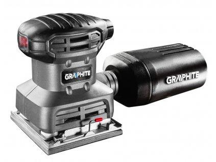 Vibračná brúska 220W, brúsna doska 104x112 mm, 3 podložky v sade   GRAPHITE 59G320