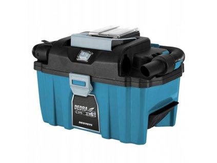 Akumulátorový kufríkový vysávač 18V, 10l, 9kPa - DED7075