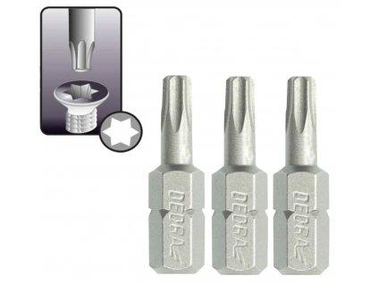 Skrutkové bity Torx T25x25mm, 3ks blister - 18A03T250-03