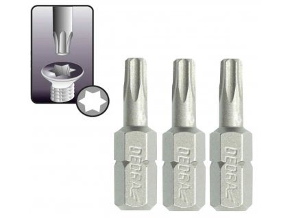 Skrutkové bity Torx T27x25mm, 3ks blister - 18A03T270-03