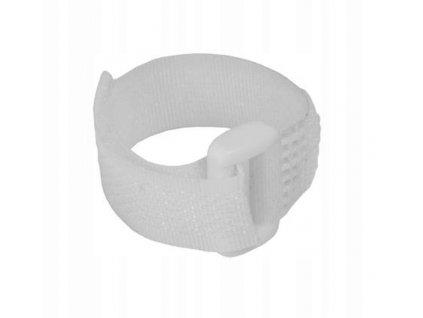 Sťahovacie pásky na suchý zips 16x310mm, biele 5 ks - 11RB16311