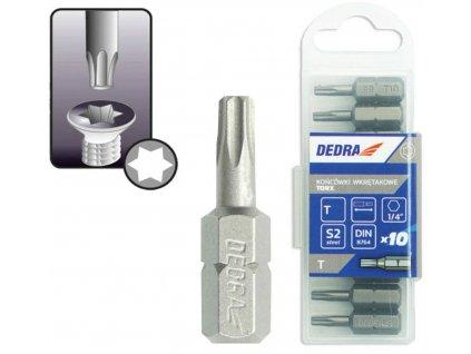 Skrutkové bity Torx T27x25mm,10ks plastové puzdro - 18A03T270-10