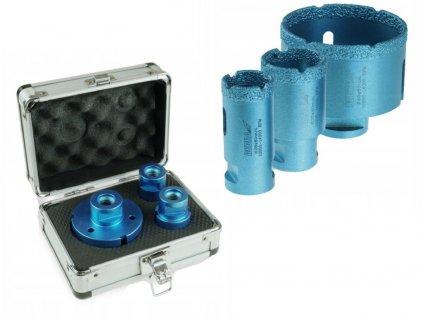Diamantová korunka Vacuum brazed 3ks:28,35,68mm,  pre otvory do  betónu, kameňa, keramiky - DED1590SZ05