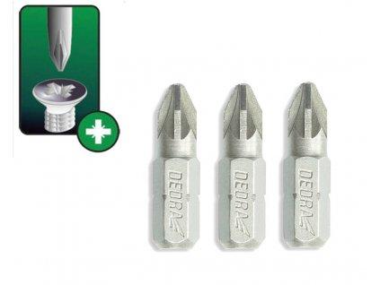 Skrutkové bity Pozidriv PZ2x25mm, 3ks blister - 18A01PZ20-03