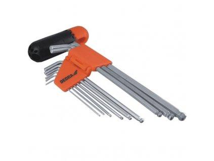 Sada imbusových kľúčov CrV 1,5-10mm, 9 ks, extra dlhé v plastovom držiaku - 0653