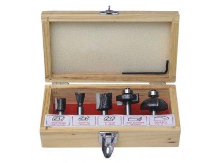 Sada fréziek vidiových do dreva  5 ks, priemer stopky  8mm - 0782